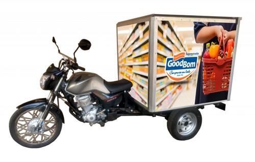 Moto carga baú