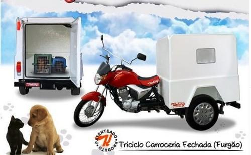 Triciclo para pet shop